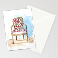 The Rose Chair Watercolor Stationery Cards