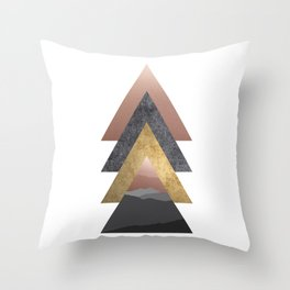 Valley, Scandinavian Modern Abstract Throw Pillow