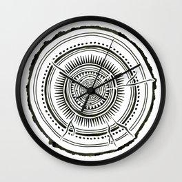 Quaking Aspen – Black Tree Rings Wall Clock