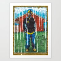 j dilla Art Prints featuring DEAD RAPPERS SERIES - J. Dilla by Ibbanez