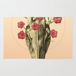 Switch of Celebration - Skull and Flowers Rug