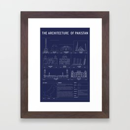 The Architecture of Pakistan Framed Art Print