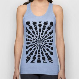 Black and White Bold Kaleidoscope Unisex Tank Top