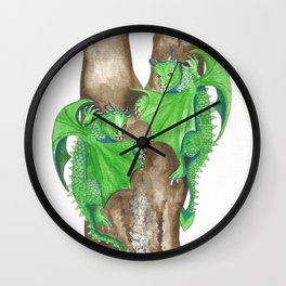 Playful Dragons Wall Clock