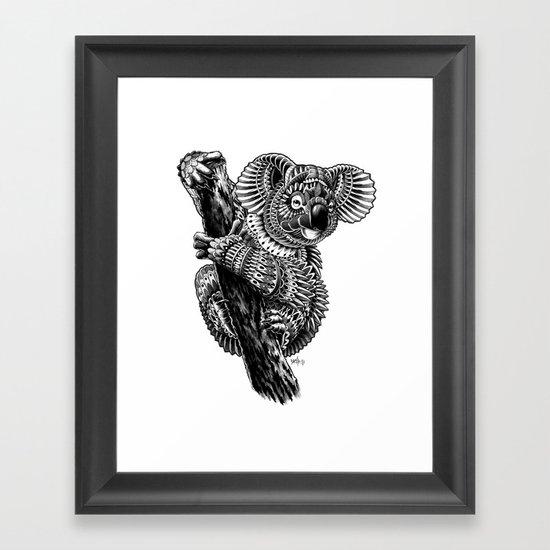 Ornate Koala Framed Art Print