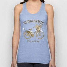 Vintage Bicycle With Sunflower Basket Unisex Tank Top