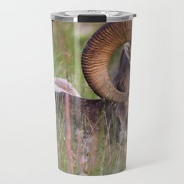 Bighorn sheep in the Rockies Travel Mug