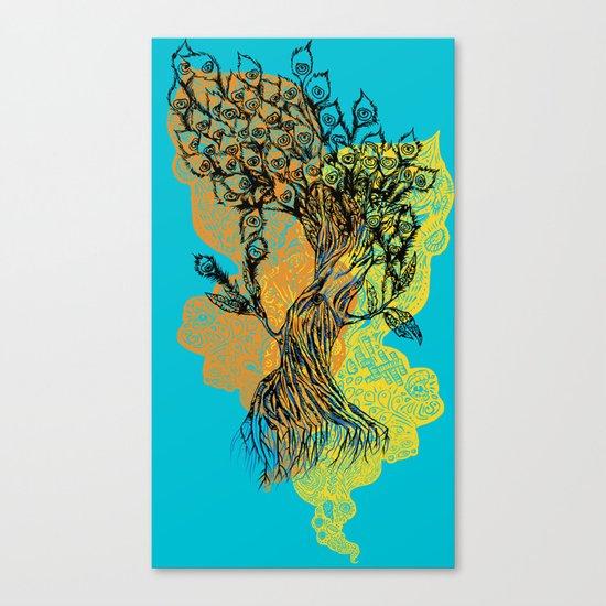 peacock tree Canvas Print