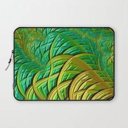 patterns green yellow string Laptop Sleeve