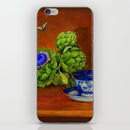 Teacup with Artichokes iPhone Skin