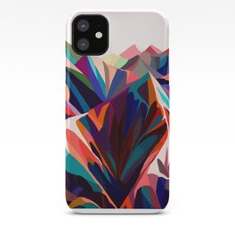 Mountains sunset warm iPhone Case