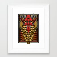diablo Framed Art Prints featuring DIABLO by MIRKOW GASTOW
