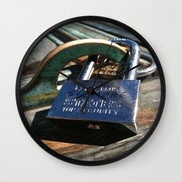 Siempre- Love Lock Wall Clock