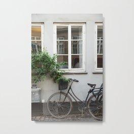 Windows and Bicycle, Copenhagen Metal Print