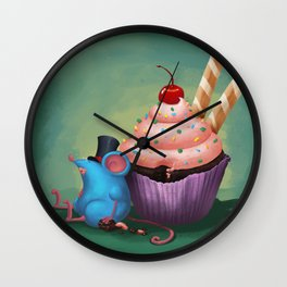 Mr. Bluemouse and a Cupcake Wall Clock