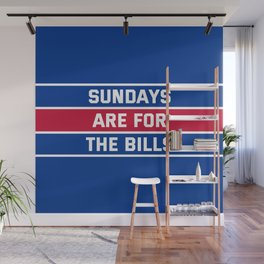 Sundays Are for the bills Wall Mural