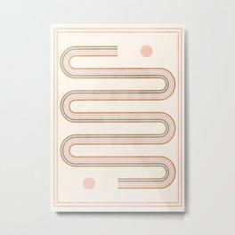 Minimal Geometric 115 Metal Print