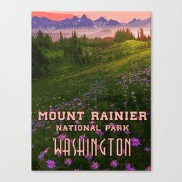 Washington, Mount Rainier National Park Canvas Print