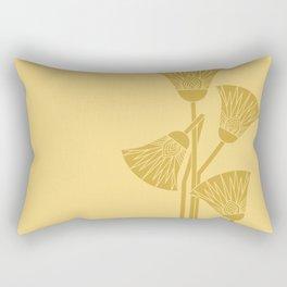 Ancient Egyptian lotus - Two colors Rectangular Pillow