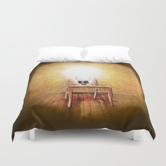 The Seat of Big Ideas Duvet Cover