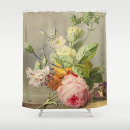 "George Jacobus Johannes van Os ""Floral Still Life"" Shower Curtain"