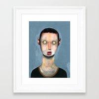cassandra jean Framed Art Prints featuring Jean by Guim Tió