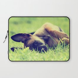 Bedtime for the small puppies Laptop Sleeve