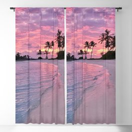 SUNSET AND PALM TREES Blackout Curtain