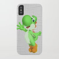 yoshi iPhone & iPod Cases featuring Yoshi by Jessica Wray