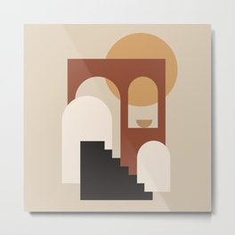 HOME - abstract minimalist art Metal Print