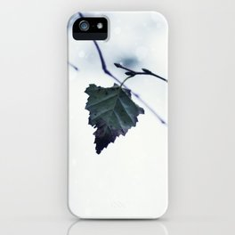 The last leaf iPhone Case