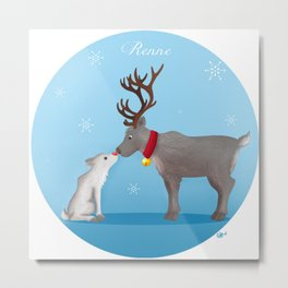 Reindeer (christmas reeting card) Metal Print