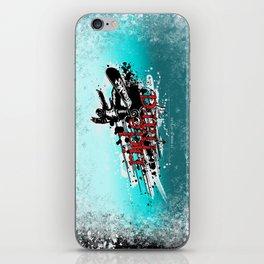 ride hard - snow iPhone Skin