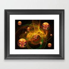 Chaos creating Universe Abstract Fantasy Framed Art Print