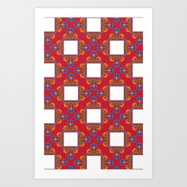 Czerwony Art Print