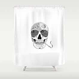 GONZO SKULL (INK ONLY) Shower Curtain