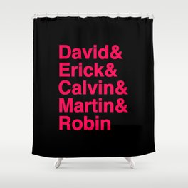 Mainstream Dj Kings   For mainstream electronic music lovers (White Version) Shower Curtain