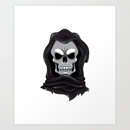 I Love You To Death Funny Grim Reaper Valentine's Art Print