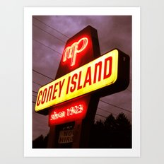 Small Town Coney Island Art Print