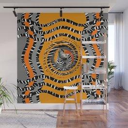 Zebra Tribal Sunset Wall Mural