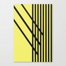 CVS0099 Yellow with Black Criss Cross Stripes Canvas Print