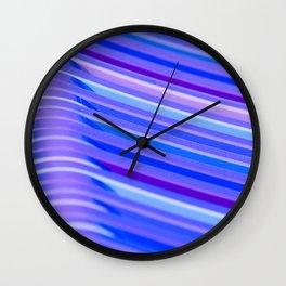 Purple Flow Wall Clock
