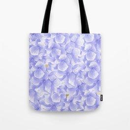 Elegant lavender white faux gold watercolor hydrangea flowers Tote Bag
