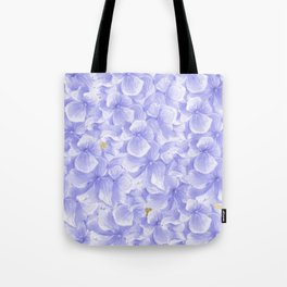 Elegant lavender white faux gold watercolor hydrangea flowers Tote Bag