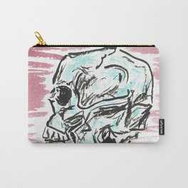 Chill skull - color ink skull on watercolor paper Carry-All Pouch