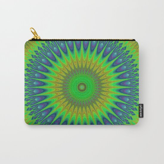 Green star mandala Carry-All Pouch