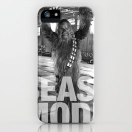 Chewbacca Beast Mode Gym Poster iPhone Case