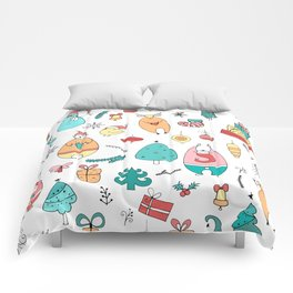 Cute Colorful Cartoon Christmas Animals Pattern Comforters