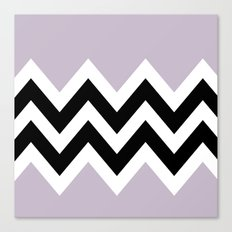 LIGHT PURPLE COLORBLOCK CHEVRON Canvas Print