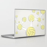 soccer Laptop & iPad Skins featuring Soccer DNA by HenryWine